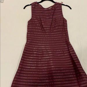 Burgundy leatherette dress
